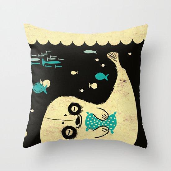 Panda Seal Throw Pillow