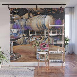 Wine and Flowers Wall Mural