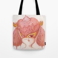 buffy Tote Bags featuring Melted Buffy by MissyandFriends