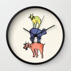 3 Billy Goats Up Wall Clock