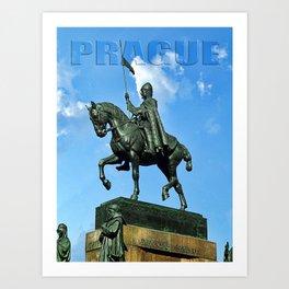 Prague Good King Vaclav Art Print