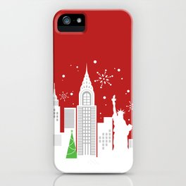 A New York City Christmas iPhone Case