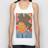 basquiat Tank Tops featuring Basquiat by Justice Dwight