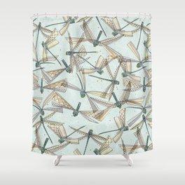 watercolor dragonflies Shower Curtain