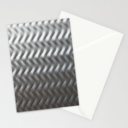 Metal Wave Silver Stationery Cards