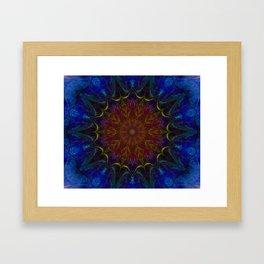 blue laced flower Framed Art Print