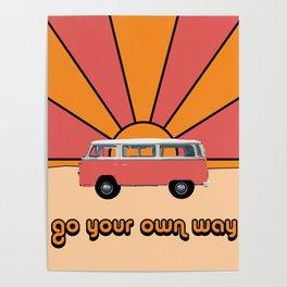 Go Your Own Way Van Poster