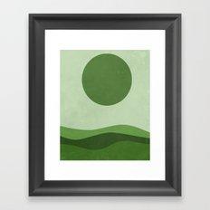 Green Sea Framed Art Print
