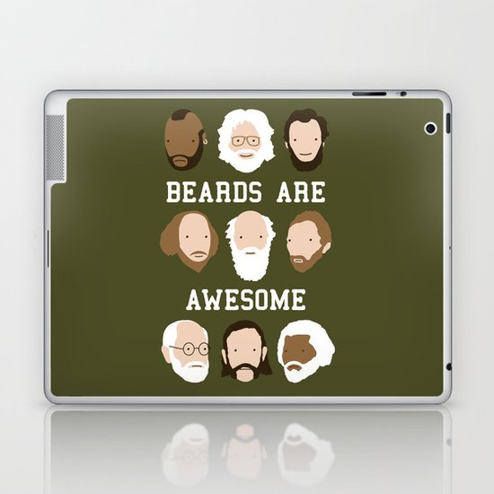 Beards Are Awesome Laptop & iPad Skin
