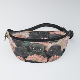 Because Black Pug Fanny Pack