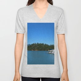 Houseboats On Lake Shasta Unisex V-Neck