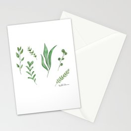 Watercolor Greenery Stationery Cards