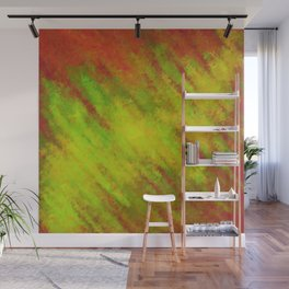 Chartreuse Gold Glow Breaking Through Coral    Wall Mural