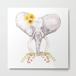 welcoming elephant Metal Print