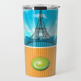 Paris Tennis Travel Mug