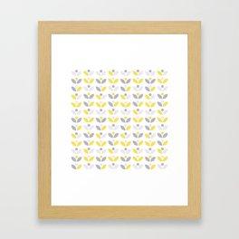 Yellow and Grey Abstract Flower Pattern #society6 #decor #buyart #artprint Framed Art Print