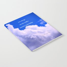 """""""Clouds #73"""" Photo with poem: Love Is #4 Notebook"""