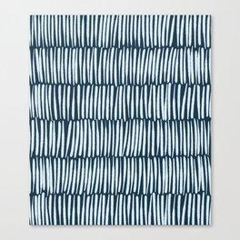 Inspired by Nature | Organic Line Texture Dark Blue Elegant Minimal Simple Canvas Print