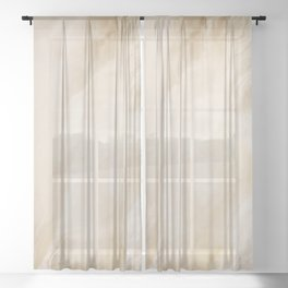 Brown Turquiose Marble texture Sheer Curtain