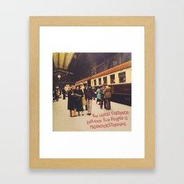 worst distance Framed Art Print