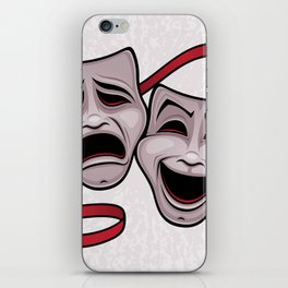 Comedy And Tragedy Theater Masks iPhone Skin