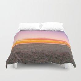 Sunset at the Beach, Beach, Sunset, Carlsbad, California, Ocean, Sand, Tropical, Summer, Landscape Duvet Cover