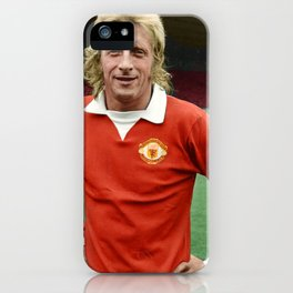 Denis Law in colour iPhone Case