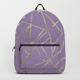 Classic Lavender Gold Geo #1 #geometric #decor #art #society6 Backpack