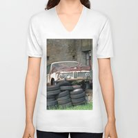 bmw V-neck T-shirts featuring Old BMW Wreck by Premium