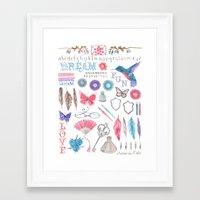 writing Framed Art Prints featuring writing by Andrea van Dalen-Krens