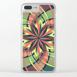 Red Yellow Blue Mandala Petals Clear iPhone Case