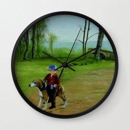 The Hound Dog Kid Wall Clock