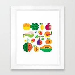 Fruit Medley White Framed Art Print