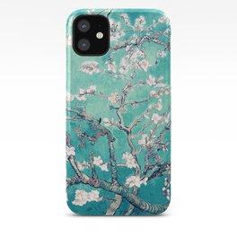Vincent Van Gogh Almond Blossoms Turquoise iPhone Case