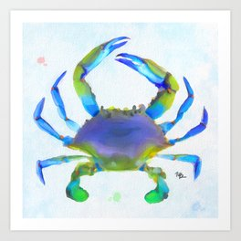 Colorful Crab Art Print