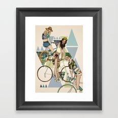 Bike Girls Framed Art Print
