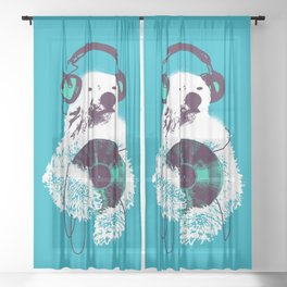 Record Bear Sheer Curtain