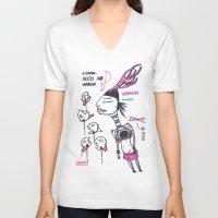arrow V-neck T-shirts featuring arrow by DONA USTRA