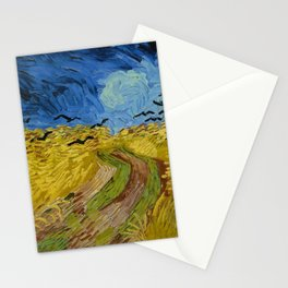 Wheatfield with Crows by Vincent van Gogh (1890) Stationery Cards