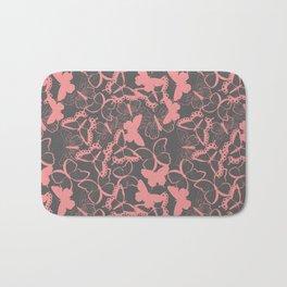 Butterfly pattern 012 Bath Mat
