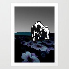 Purple Graze Art Print