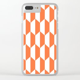 Classic Trapezoid Pattern 224 Orange Clear iPhone Case