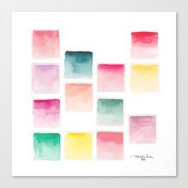 Summer Paint Chips Flat Lay Photograph Canvas Print