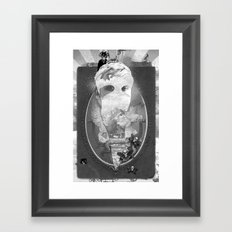 WHITEOUT zine Framed Art Print