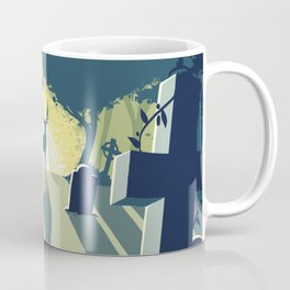 Deerly Departed - Stag in a Cemetery Coffee Mug