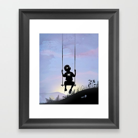 Spider Kid Framed Art Print