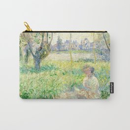 Woman Seated under the Willows - Claude Monet Carry-All Pouch