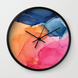 Tropical Bliss - Alcohol Ink Painting Wall Clock