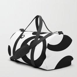 Circles Dots Bubbles :: White Salt Duffle Bag