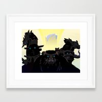 shadow of the colossus Framed Art Prints featuring Shadow of the Colossus by Bringerzl